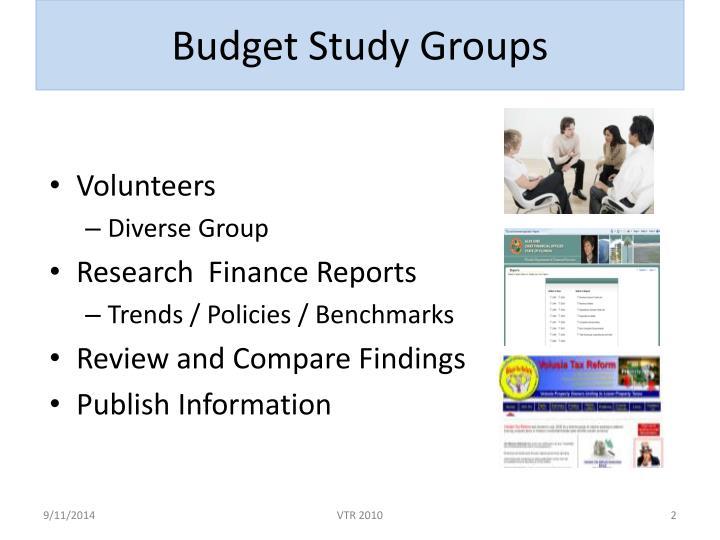 Budget Study Groups