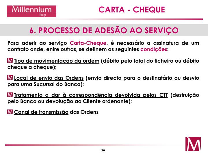 6. PROCESSO DE ADESÃO AO SERVIÇO