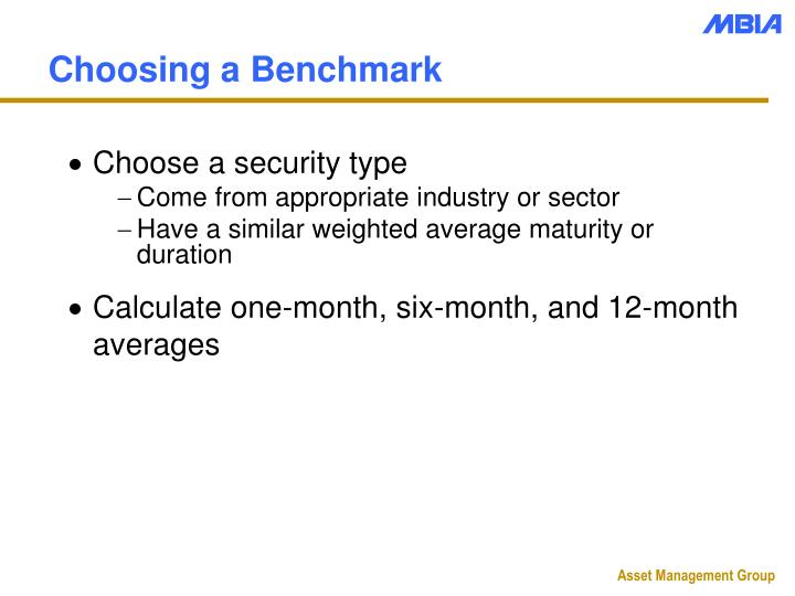 Choosing a Benchmark