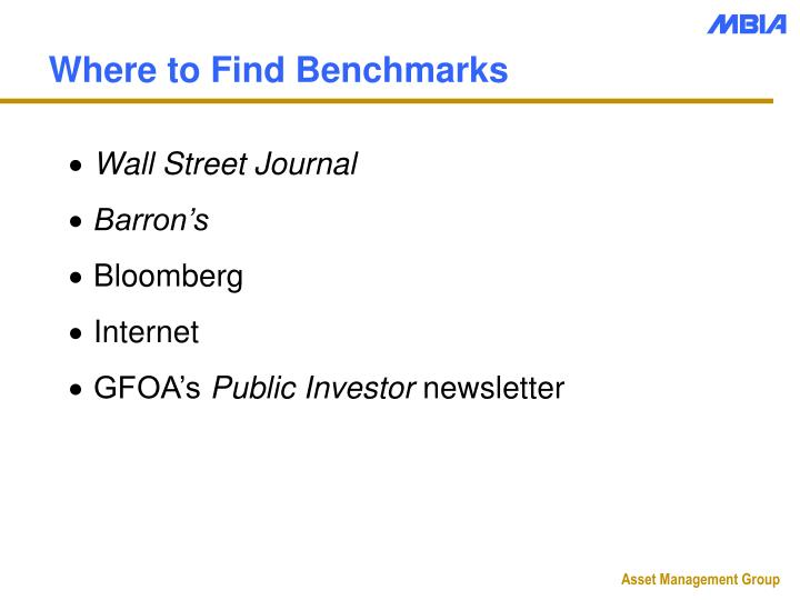 Where to Find Benchmarks