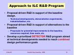 approach to ilc r d program