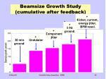 beamsize growth study cumulative after feedback