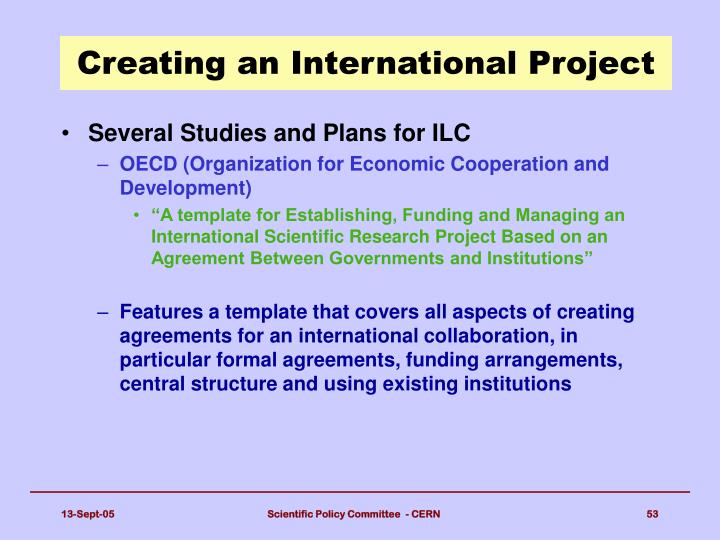 Creating an International Project