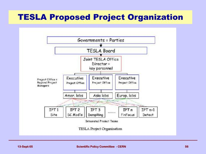 TESLA Proposed Project Organization