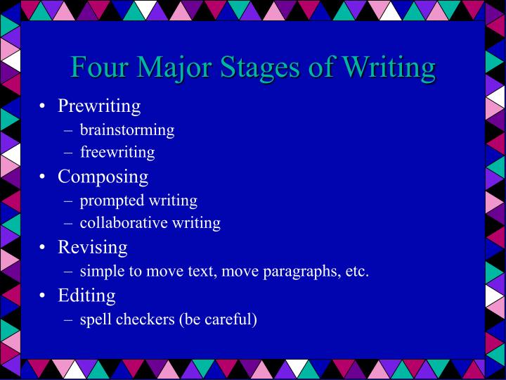 Four Major Stages of Writing
