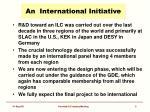 an international initiative