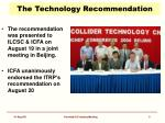 the technology recommendation