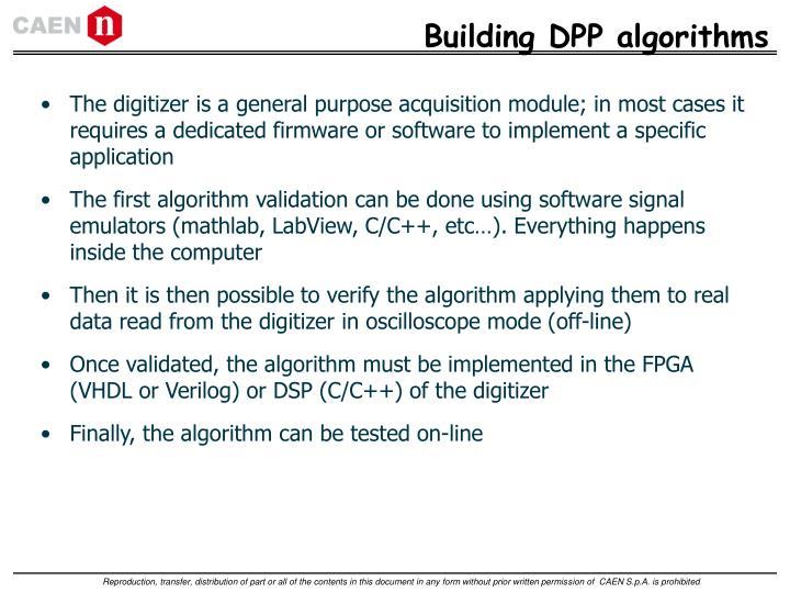 Building DPP algorithms