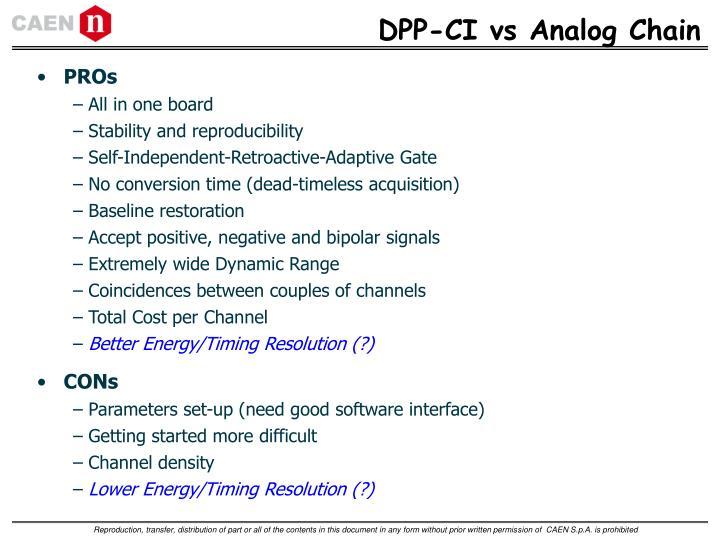 DPP-CI vs Analog Chain