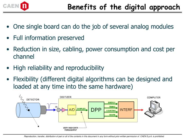 Benefits of the digital approach