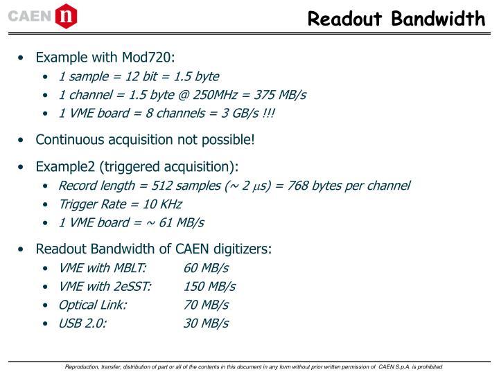Readout Bandwidth