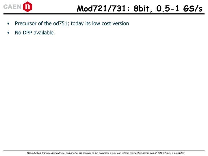 Mod721/731: 8bit, 0.5-1 GS/s