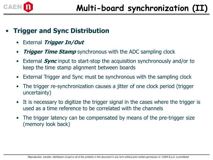 Multi-board synchronization (II)