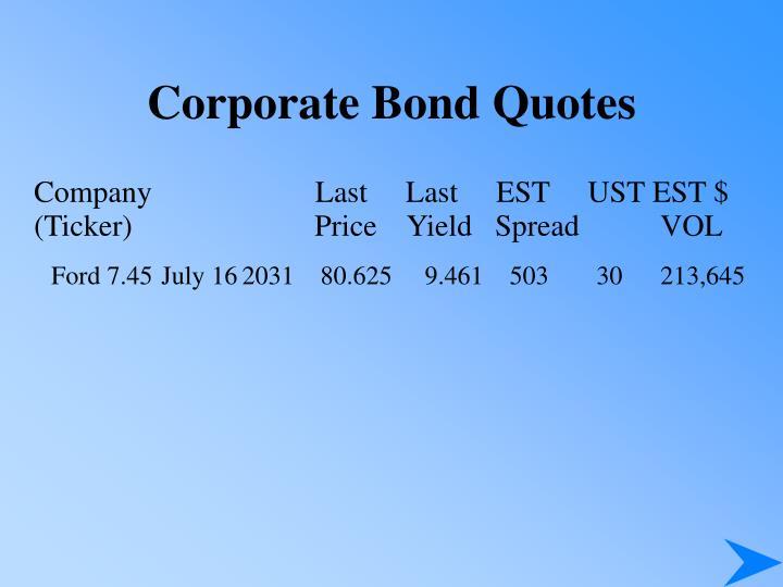 Corporate Bond Quotes