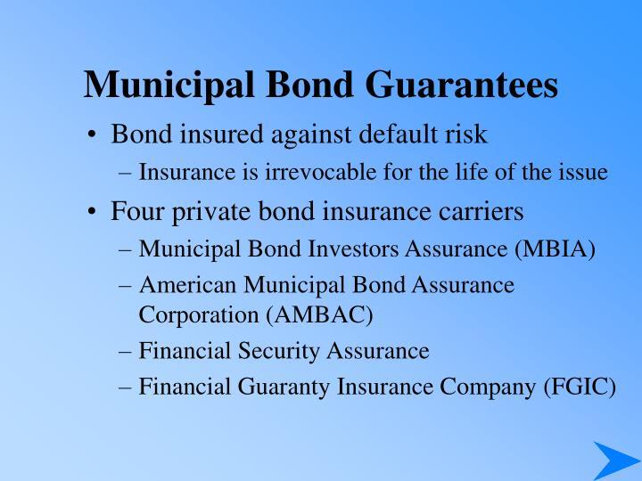 Municipal Bond Guarantees