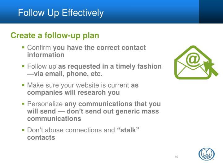Follow Up Effectively