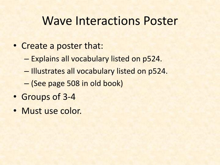 Wave Interactions Poster