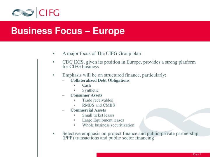 Business Focus – Europe