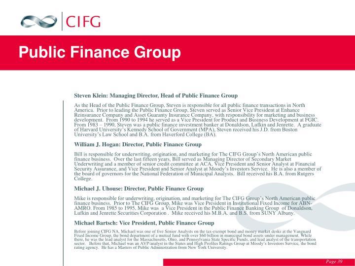 Public Finance Group