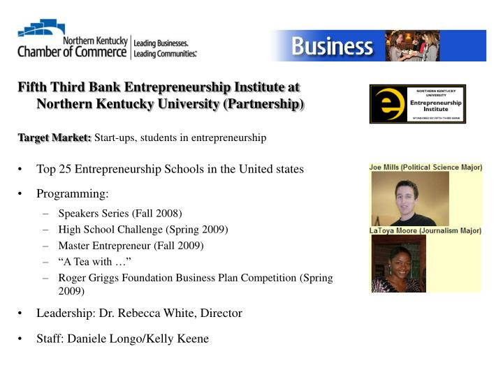 Fifth Third Bank Entrepreneurship Institute at Northern Kentucky University (Partnership)