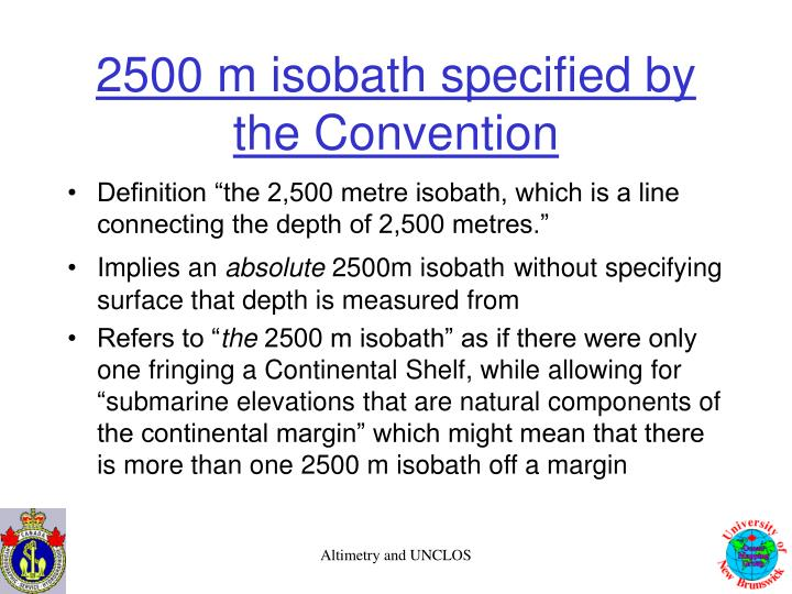 2500 m isobath specified by the Convention