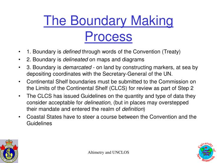 The Boundary Making Process