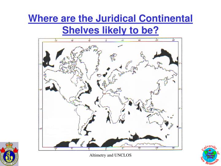 Where are the Juridical Continental Shelves likely to be?