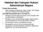 hakekat dan cakupan hukum administrasi negara