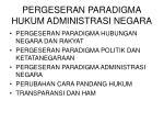 pergeseran paradigma hukum administrasi negara