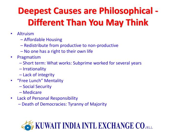 Deepest Causes are Philosophical -