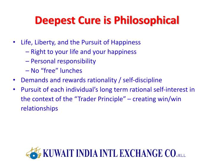 Deepest Cure is Philosophical