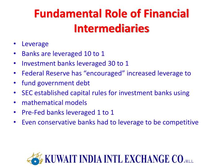 Fundamental Role of Financial