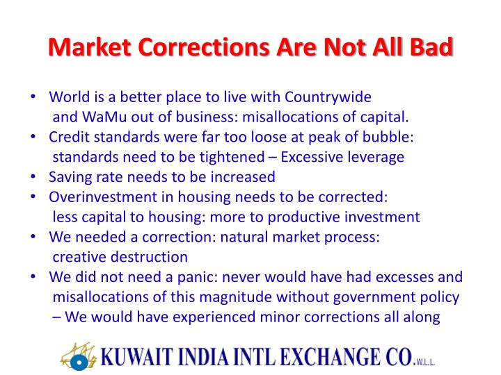 Market Corrections Are Not All Bad