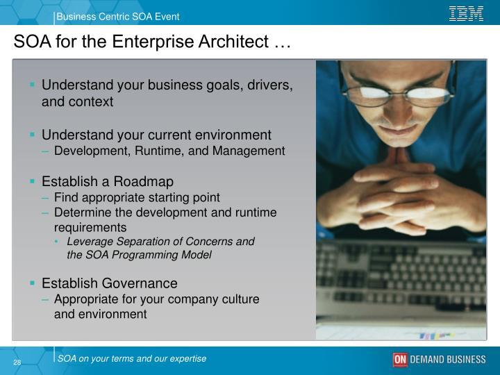 SOA for the Enterprise Architect …