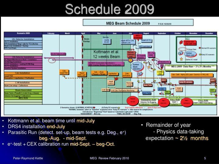 Schedule 2009