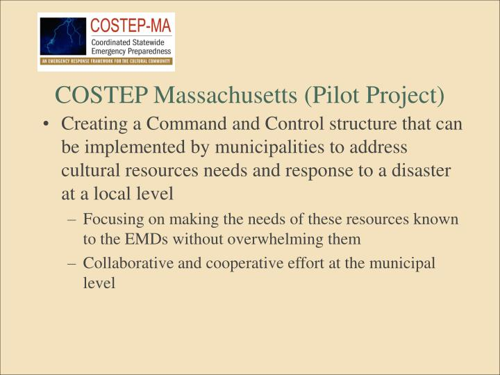 COSTEP Massachusetts (Pilot Project)
