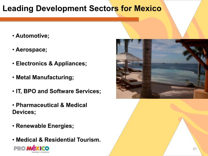 Leading Development Sectors for Mexico