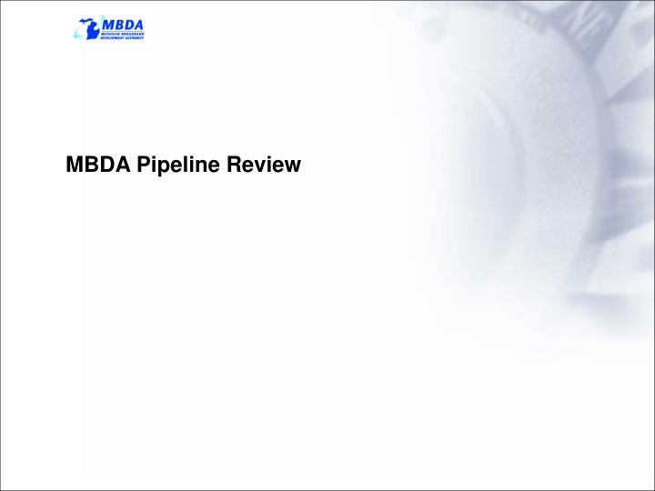 MBDA Pipeline Review