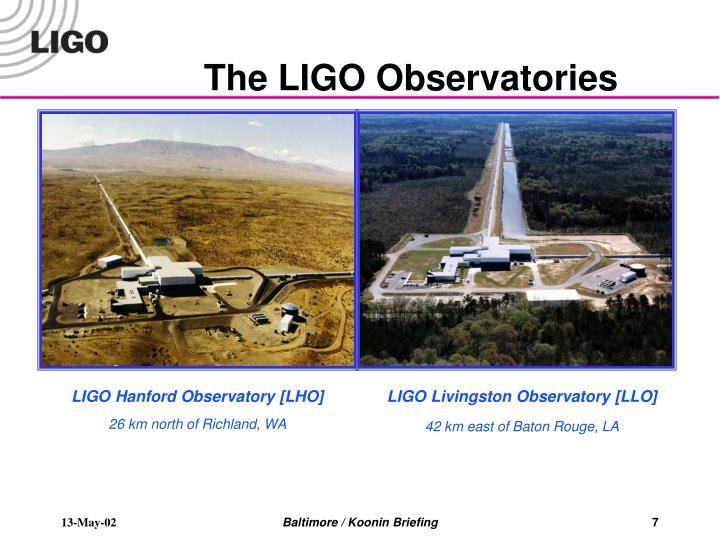The LIGO Observatories
