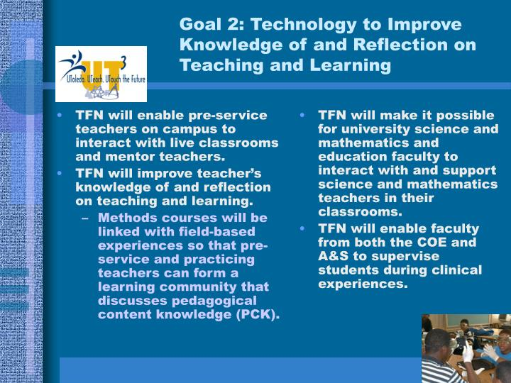 TFN will enable pre-service teachers on campus to interact with live classrooms and mentor teachers.