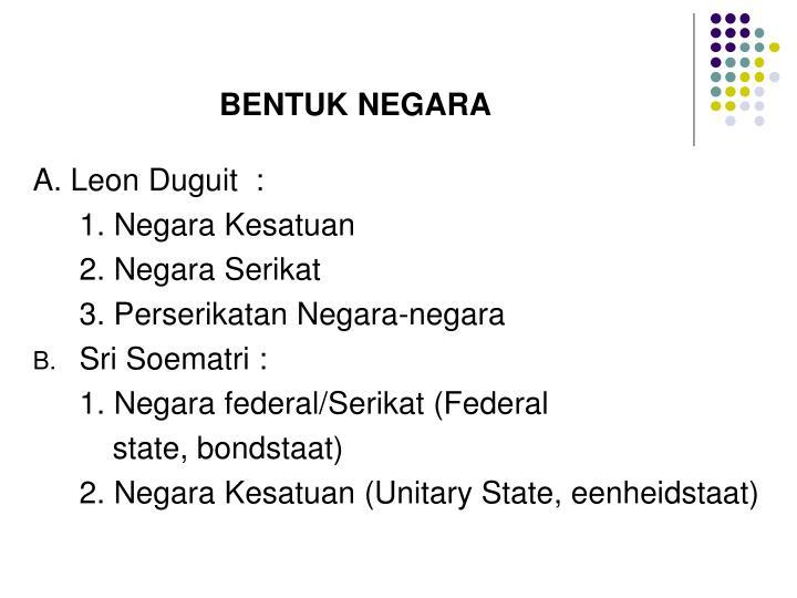 BENTUK NEGARA