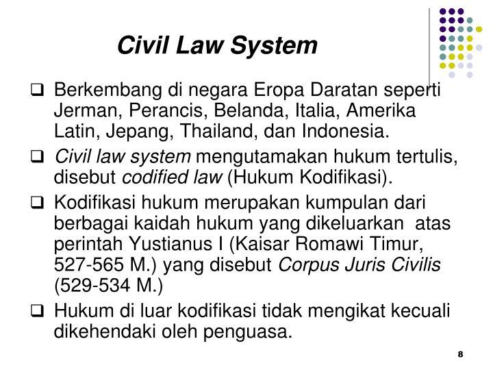 Civil Law System
