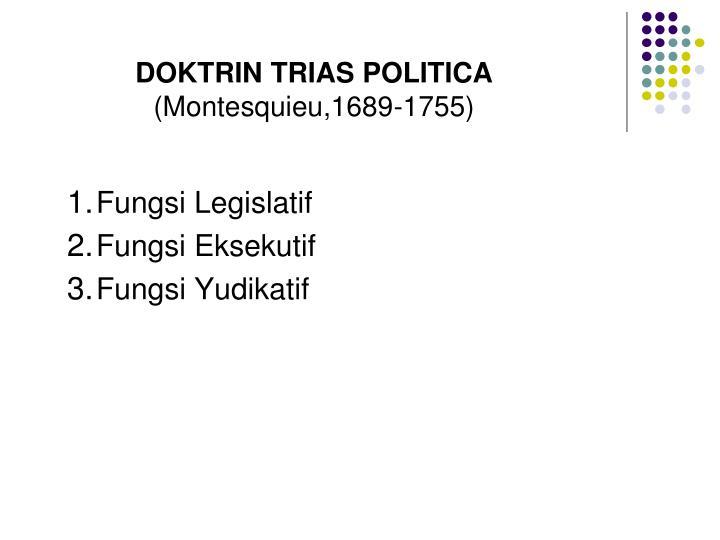 DOKTRIN TRIAS POLITICA