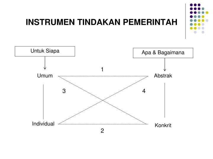 INSTRUMEN TINDAKAN PEMERINTAH
