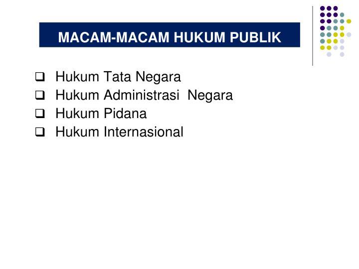 MACAM-MACAM HUKUM PUBLIK