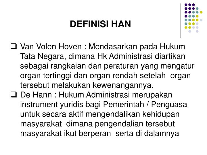 DEFINISI HAN