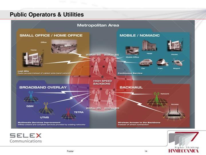 Public Operators & Utilities