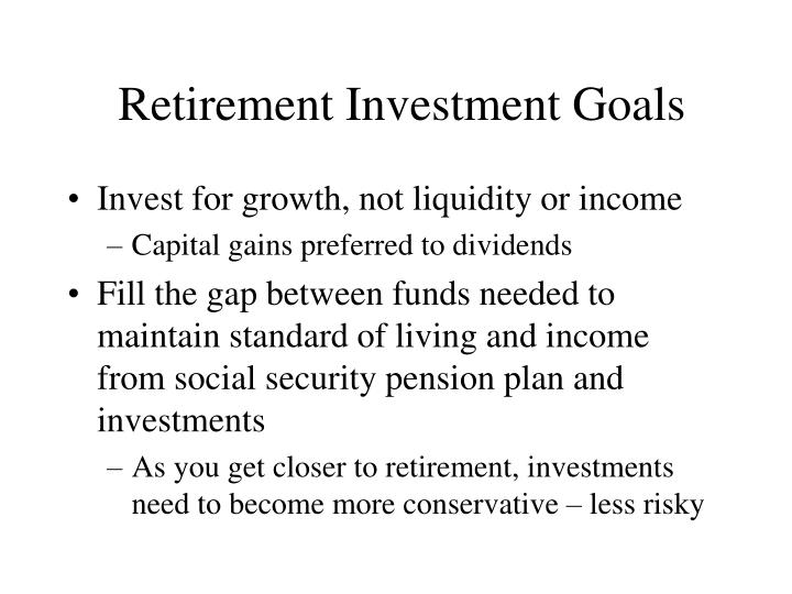Retirement Investment Goals