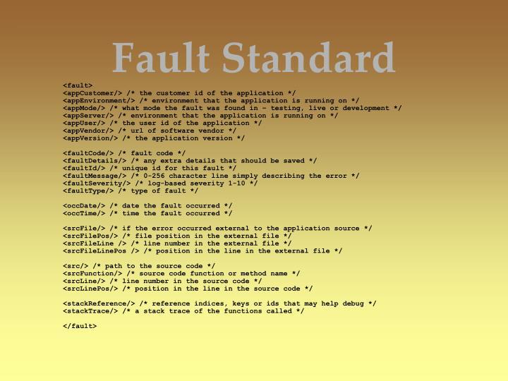 Fault Standard
