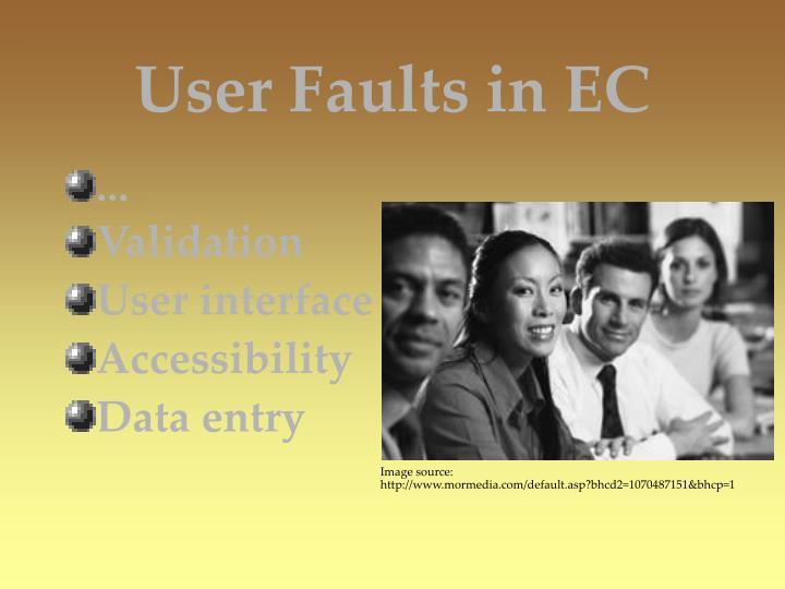 User Faults in EC